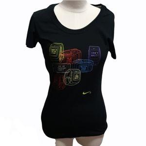 Nike Black Tee watch motivational print Size S
